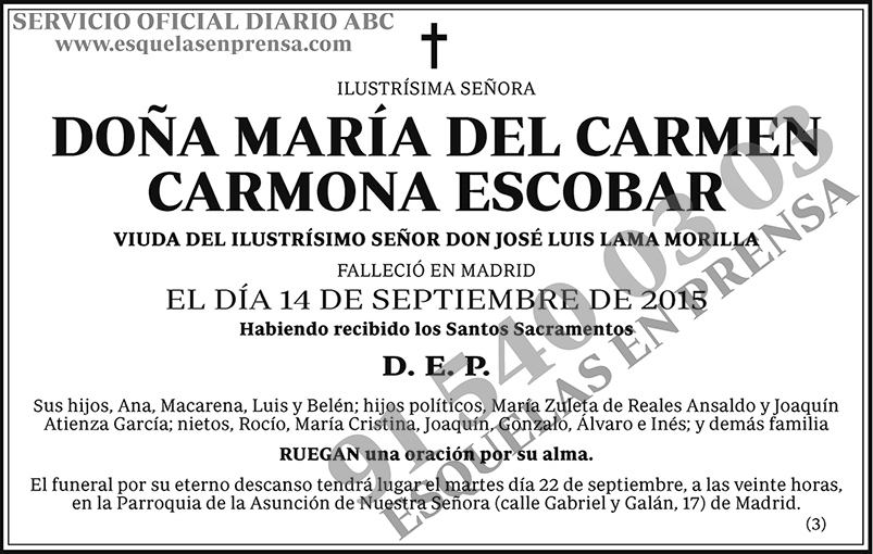 María del Carmen Carmona Escobar